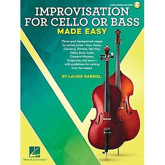 GABRIEL LAURIE IMPROVISATION MADE EASY CELLO OR BASS BOOK/AUDIO ONLIN