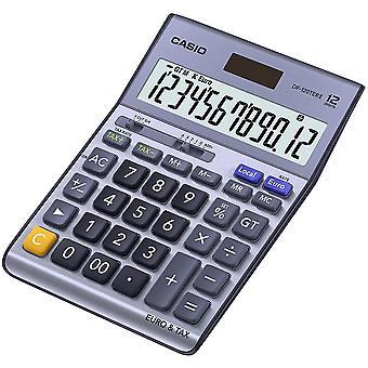 Casio Schreibtisch Calculator mit Steuern & Euro-Berechnungen-Silber (Modell Nr. DF120TER)