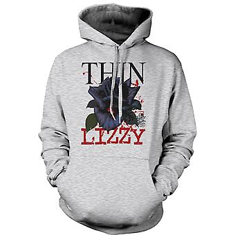 Womens Hoodie - Thin Lizzy  Rose