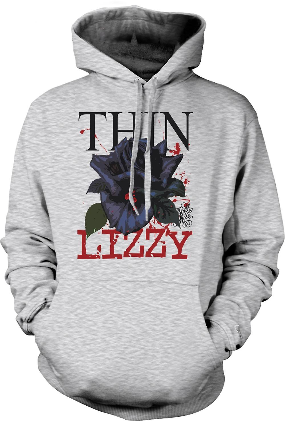 Mens Hoodie - Thin Lizzy  Rose