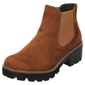 Rieker Chunky Chelsea Suede Ankle Boots 99284-24