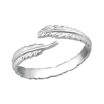 Open Leaf - 925 Sterling Silver Plain Rings - W30516X
