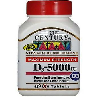 21st century vitamin d-5000, super strength d3, tablets, 110 ea