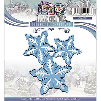 Find It Trading Yvonne Creations Colourful Christmas Die-Poinsettia YCD10026
