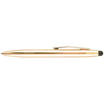 St.Tropez Petite 2 In 1 Stylus & Pen Open Stock with Black Ink Gold Barrel 007I S Gld