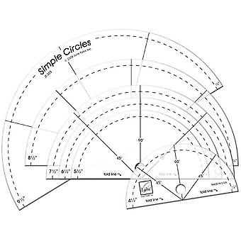 Simple Circles Rotary Cutting Rulers 6 Pkg Jt 303