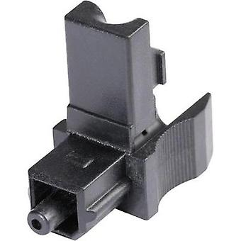 TOSLINK connector Plug, straight Number of pins: 1 Black Hicon POF-TOS 1 pc(s)
