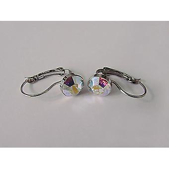 Kolczyki kropla kryształ Aurora EMB7.6