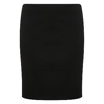 Schwarzer Jersey Schlauchrock