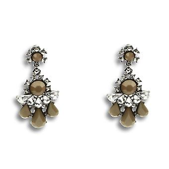 Victoria tear drop crystal earrings