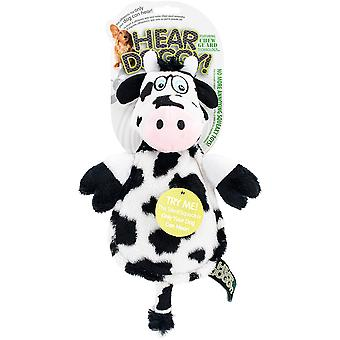 Hear Doggy Flattie With Chew Guard-Cow 58544