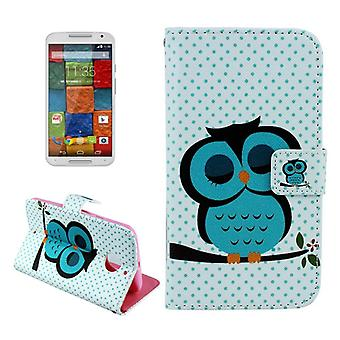 Cell phone cover case for Motorola phone Moto X (2nd Gen.) Motif thick OWL on tree branch