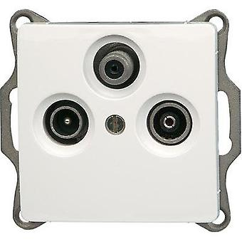 Kopp Insert TV, Radio, SAT socket Paris White 921402082