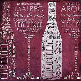 ワイン用語 II ポスター印刷ポール ブレント