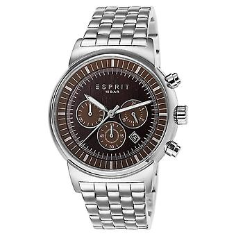 ESPRIT mens watch wristwatch Woodward stainless steel Chrono ES106851005