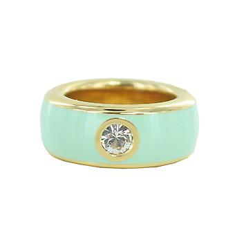 ESPRIT women's ring stainless steel gold fancy turquoise ESRG12194O1