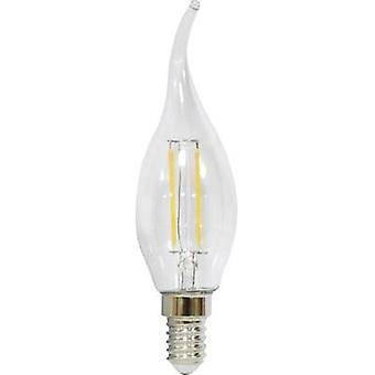 LED E14 Candle angular 2.5 W = 25 W Warm white (Ø x L) 35 mm x 123 mm EEC: A++ LightMe Filament 1 pc(s)