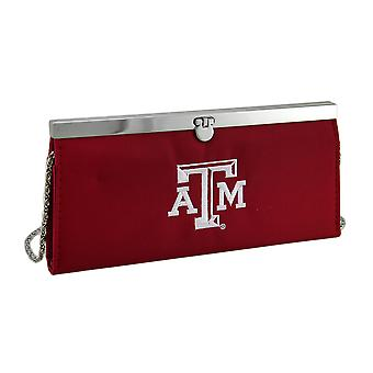 Embroidered Texas Aggies Fabric Clutch Wallet w/Chain Strap