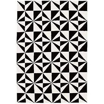 Arklow Microfibre Mosaic Mono Black Rug