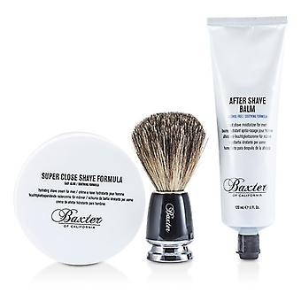 Baxter of California Shave 1.2.3 Set: Shave Formula + 3pcs Baume + Brush
