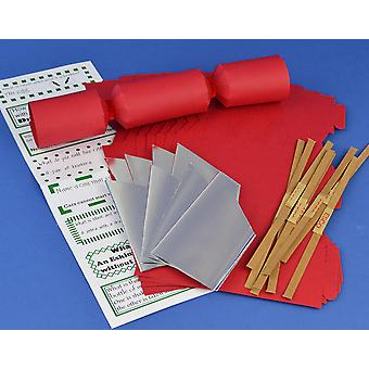 8 MINI Red Make & Fill Your Own Cracker Making Craft Kit
