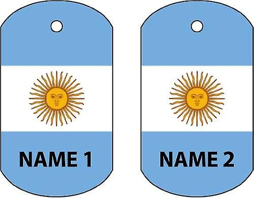 Personalised Argentina Dog Tag Car Air Freshener