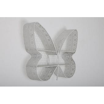 45X37X9.5CM BUTTERFLYFLY METAL SHELF UNIT WAL HANGING WHITE
