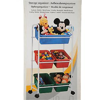 6 Piece Mobile Storage Organiser