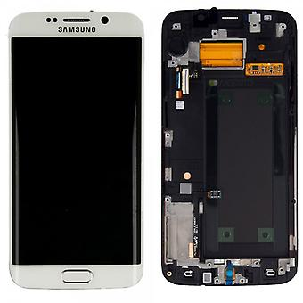 Display LCD Komplettset Touchscreen Weiss für Samsung Galaxy S6 Edge G925 G925F