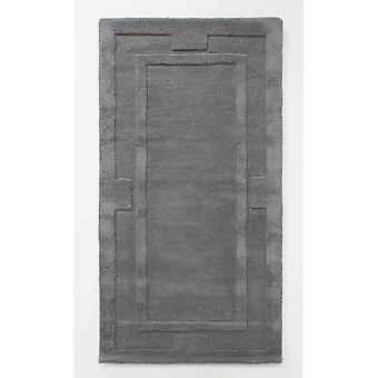 Grey Charcoal Wool Living Room Rug - Sierra Apollo 110x160