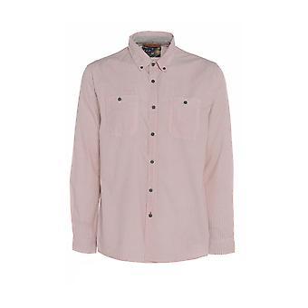 Men's Pink Mini Chevron Print Long-Sleeve Shirt TP564-M