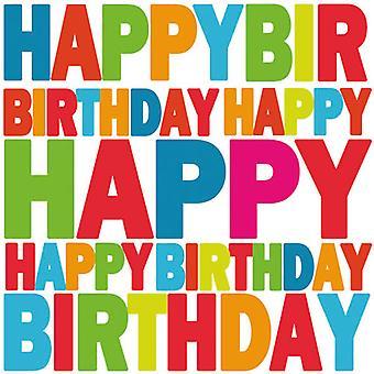 Ambiente 3 lags papirservietter, tillykke med fødselsdagen