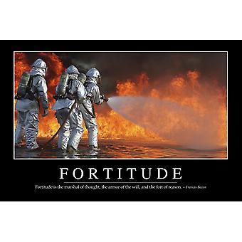 Courage - inspiration lectures citation et Motivational Poster il Fortitude est le maréchal de pensé que l'armure de la volonté et le fort de raison ~ Francis Bacon Poster Print