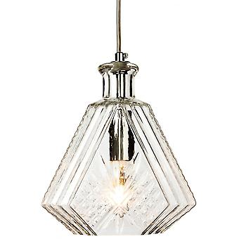 Firstlight Traditional Antique Chrome Clear Glass Ceiling Lantern