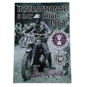 Sporting Display Steve McQueen International 6 Day Trial 1964 Poster