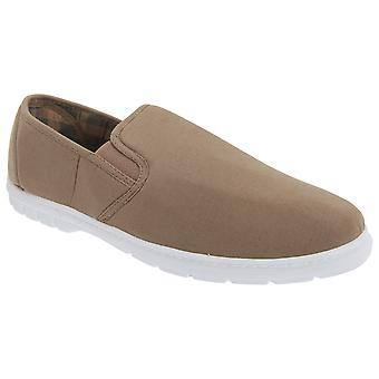 Scimitar Mens Twin Gusset Slip On Casual Textile Shoes