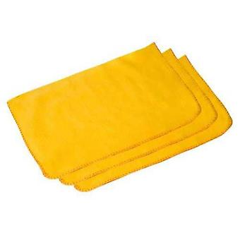 Caraselle Pack of 3 Quality 100% Cotton Yellow Dusters 50 x 40cm