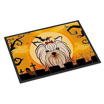 Хэллоуин Yorkie Yorkishire терьер крытом или открытом мат 18 x 27