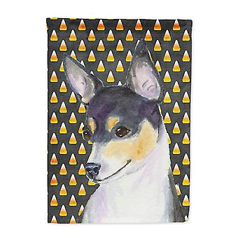 Carolines Treasures  SS4311-FLAG-PARENT Chihuahua Candy Corn Halloween Portrait