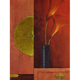 Still Life with Red Callas I Poster Print by Mira Latour (24 x 32)