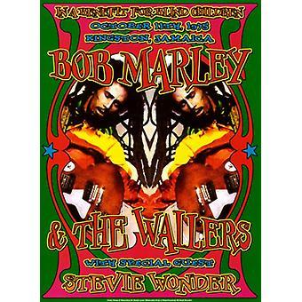 Bob Marley & Stevie Wonder Kingston Jamaica 1975 Poster Print von Dennis Loren (14 x 20)