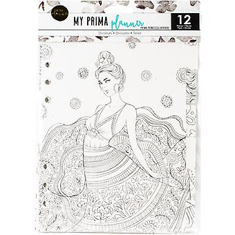 My Prima Planner Coloring Tabbed Dividers 6.5