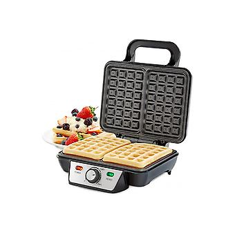 Andrew James 2 Slice Belgian Waffle Maker With Adjustable Temperature