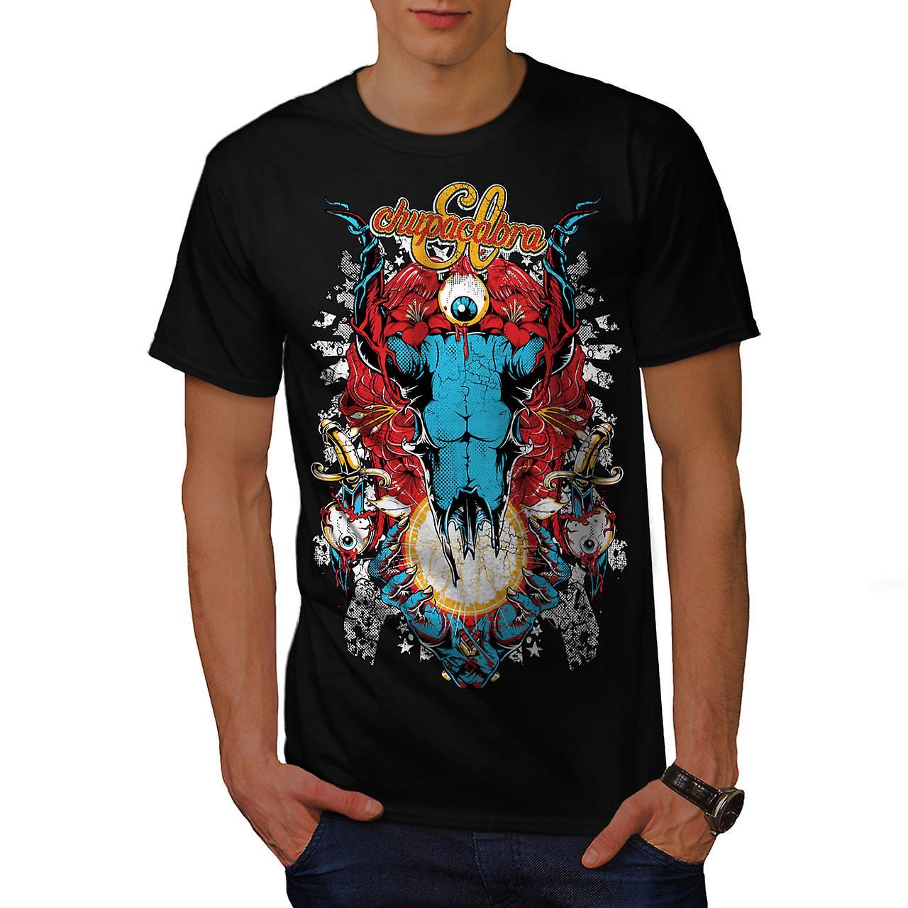 Eye Monster Horror Men Black T-shirt | Wellcoda