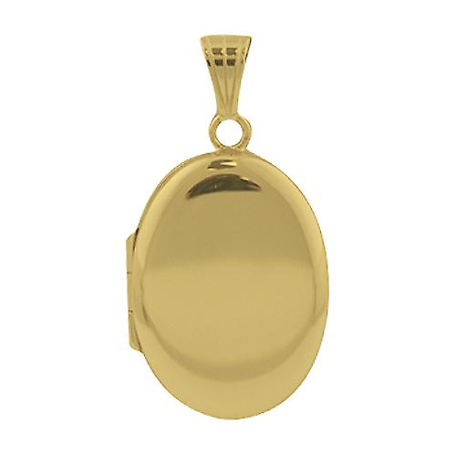 18ct Gold plain 25x19mm plain oval Locket