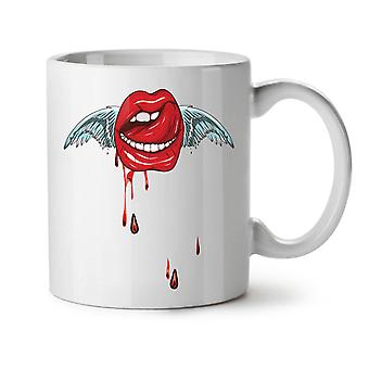 Labios de Ángel elegante nuevo té blanco taza de café de cerámica 11 oz | Wellcoda