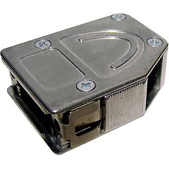 D-SUB housing Number of pins: 15 Metal 180 °, 45 °, 45 ° Silver