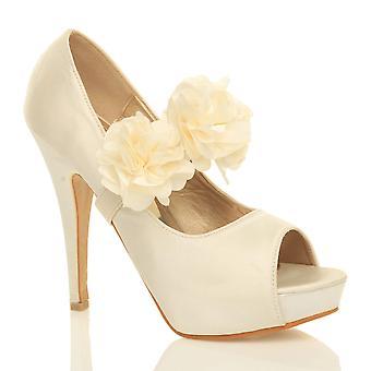 Ajvani womens sera sposa ballo tacco alto piattaforma partito Corte scarpe scarpe