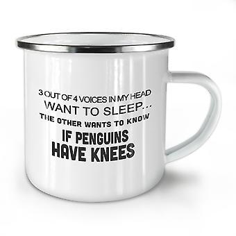 Lustige Slogan neue WhiteTea Kaffee Emaille Mug10 oz   Wellcoda