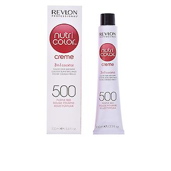 Revlon Nutri Color Creme 500 Purple Red 100ml Unisex New Sealed Boxed